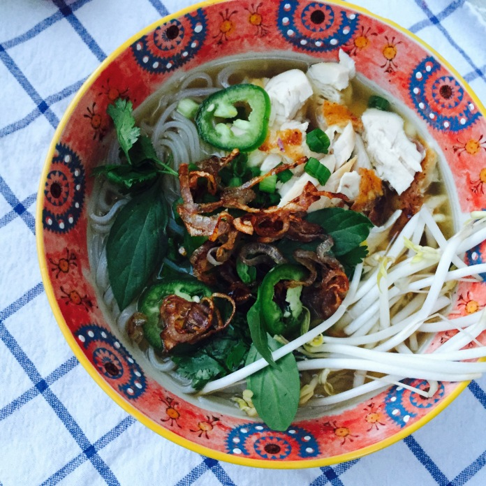 Chicken pho...and EXCELLENT reason to make and have stock on hand. Recipe to come soon.